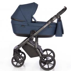 bloom duo barnvagn midnight