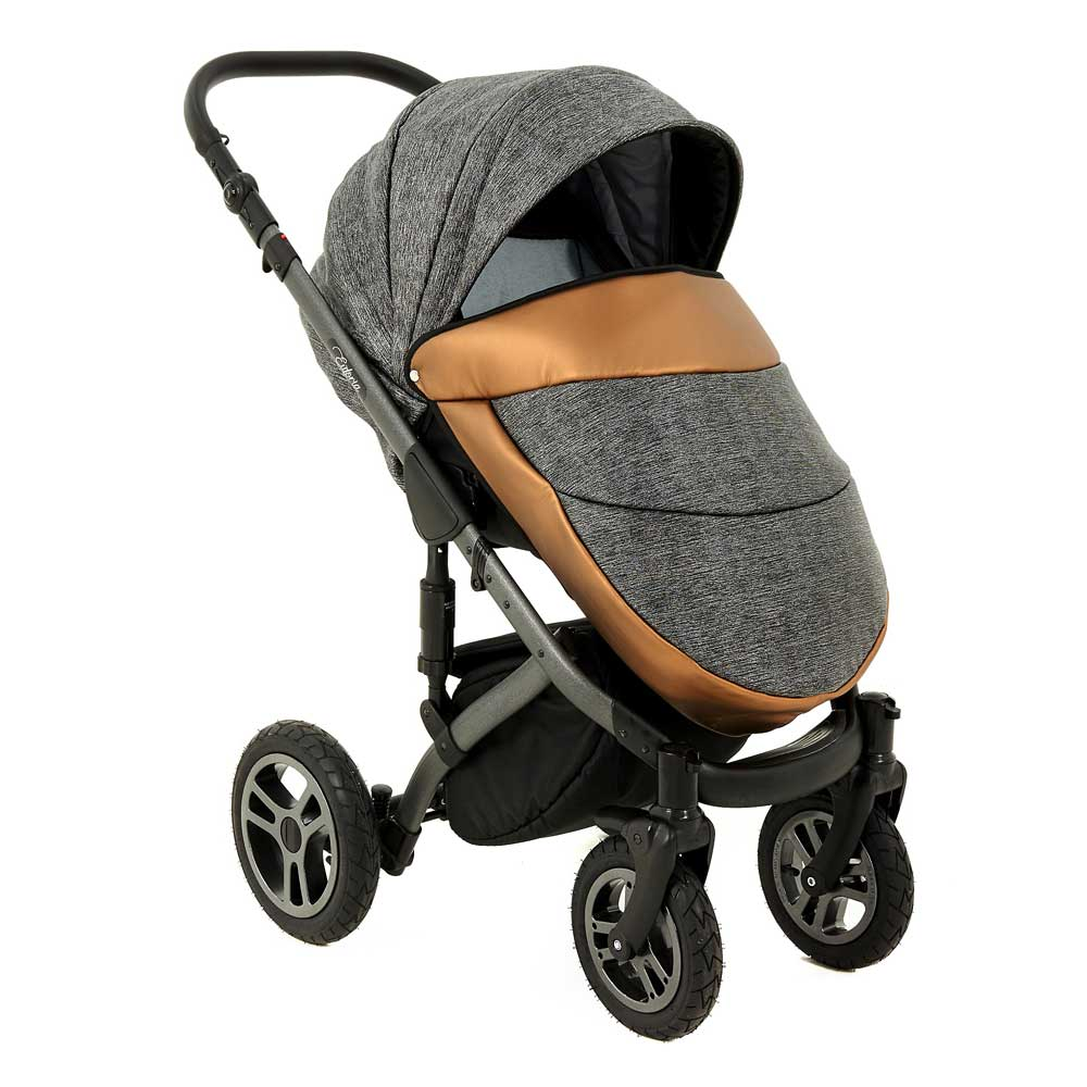 euforia barnvagn copper grey