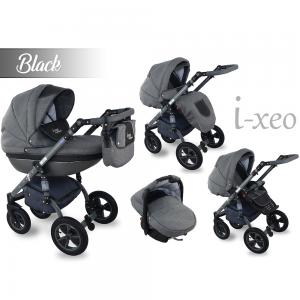 I-Xeo | Travel System Barnvagn - Black