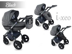 I-Xeo | Duo Barnvagn - Black