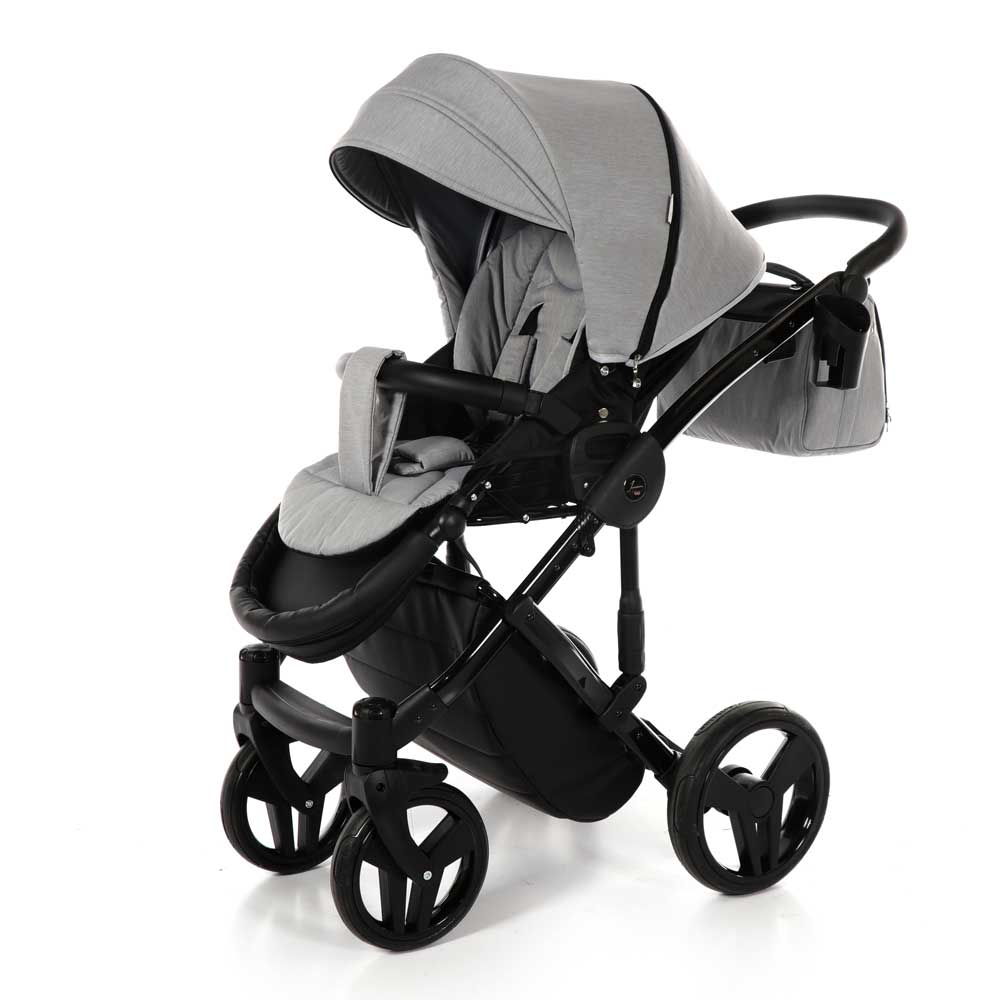 Junama Diamond Grey Black Barnvagn