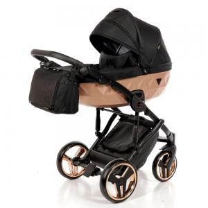 Junama Mirror - Black Gold barnvagn