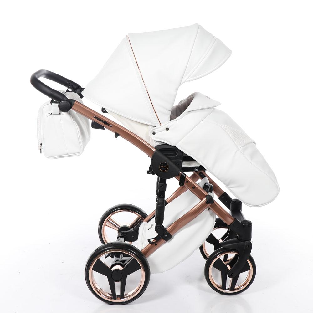 Junama Mirror - White/Gold barnvagn
