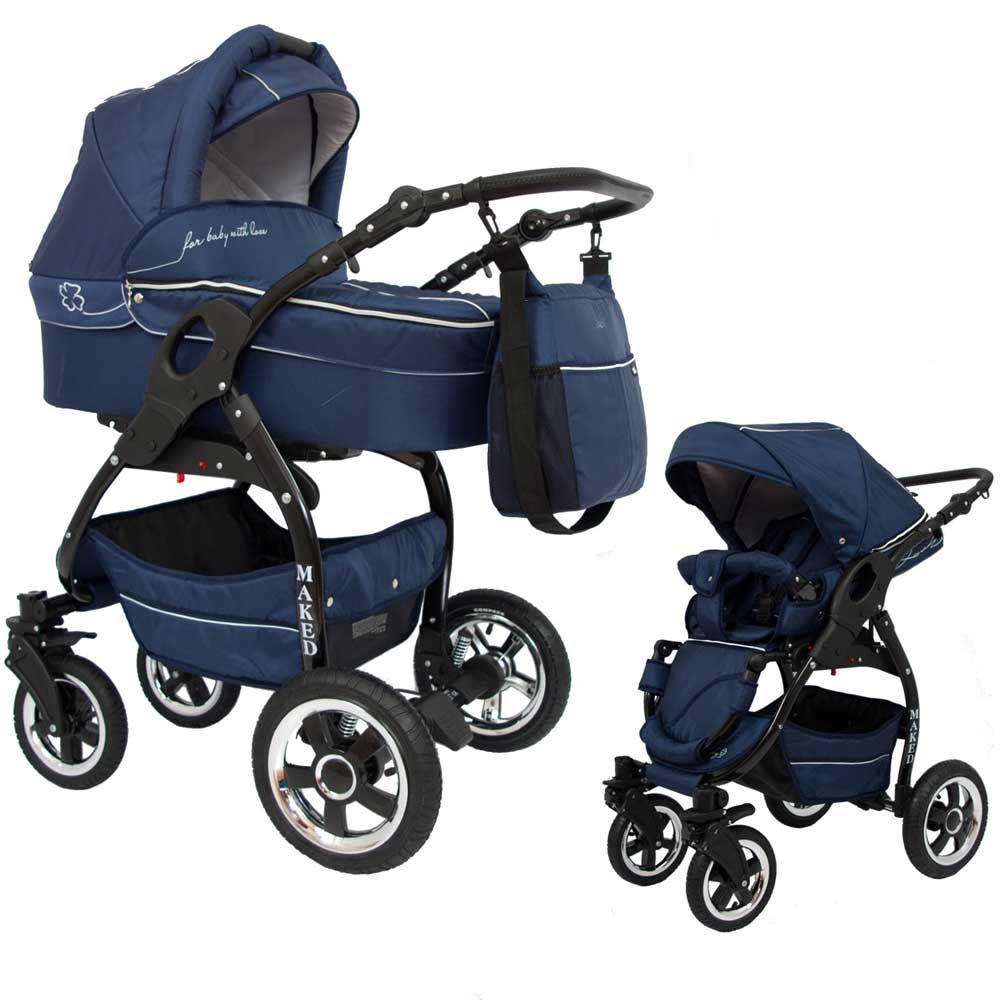 Lucky Marinblå 2 in 1 barnvagn