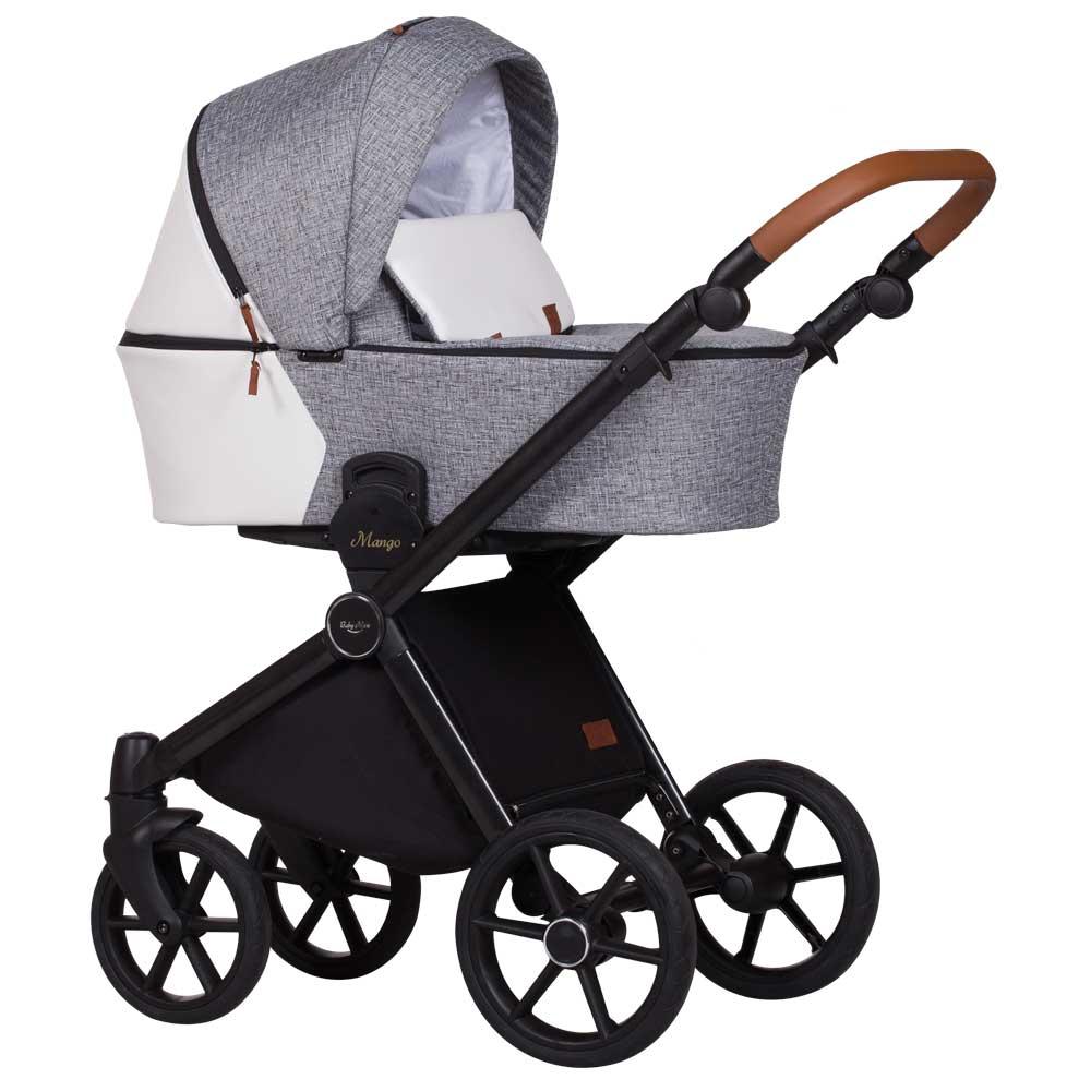 barnvagn mango duo grey white