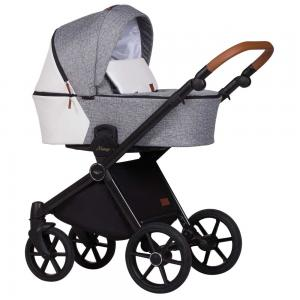 barnvagn mango duo grey white
