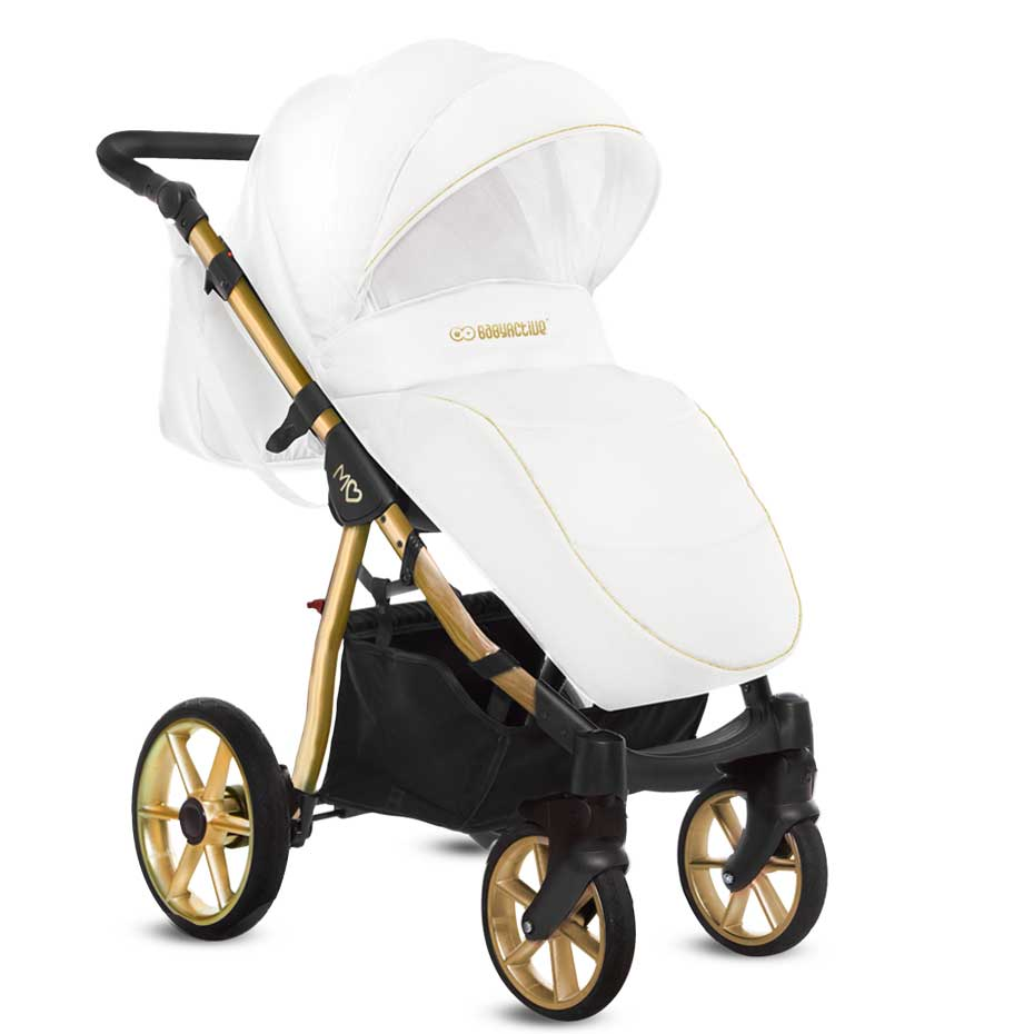Mommy Glossy White barnvagn 01-1