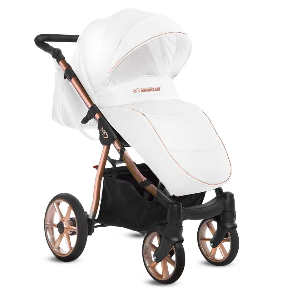 Mommy Glossy White barnvagn 02-2