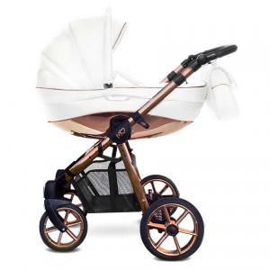 Mommy Glossy White barnvagn 02