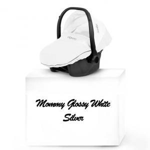 Mommy Glossy White babyskydd 03