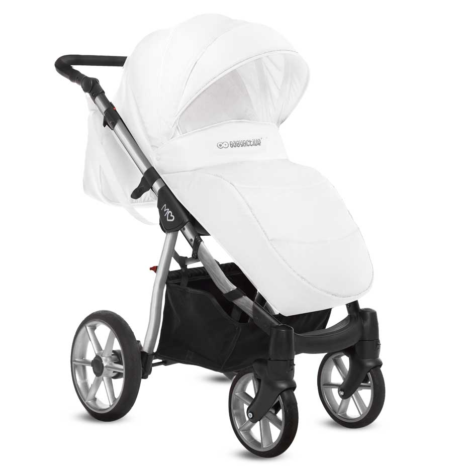 Mommy Glossy White barnvagn 03-1