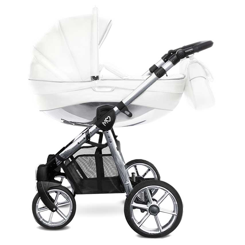 Mommy Glossy White barnvagn 03
