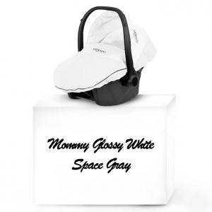 Mommy Glossy White babyskydd 04