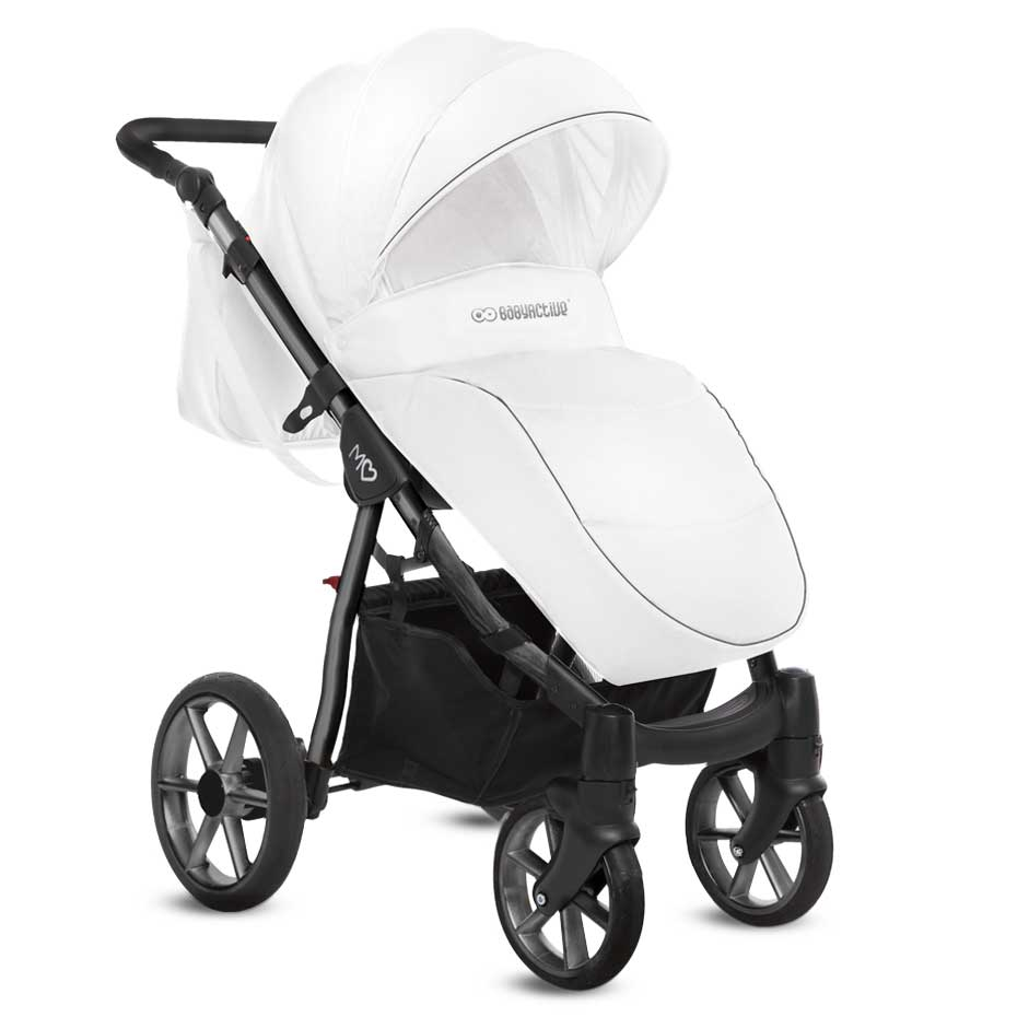 Mommy Glossy White barnvagn 04-1