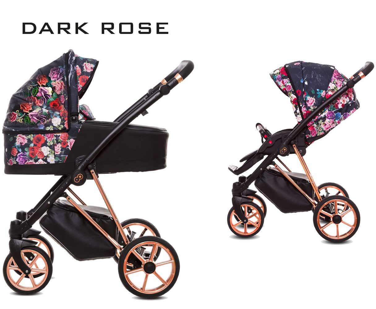 Musse Rosse Barnvagn Dark Rose rose-gold 04