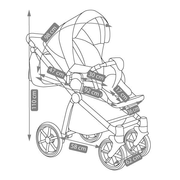 Previo barnvagn -1-10