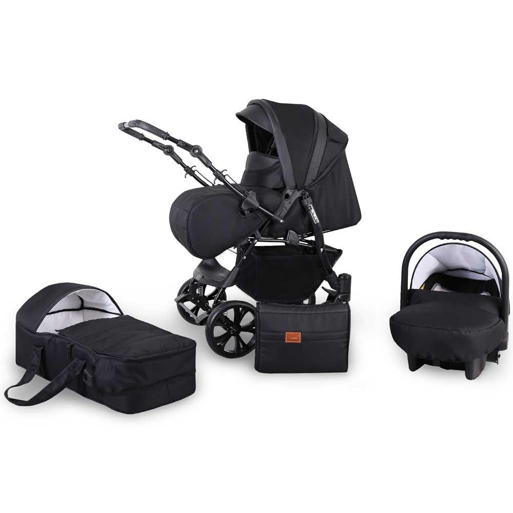 turne barnvagn black 3in1