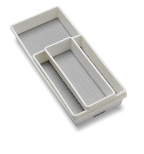 Set med 3 förvaringslådor från Madesmart. Hjälper dig att skapa ordning i dina kökslådor