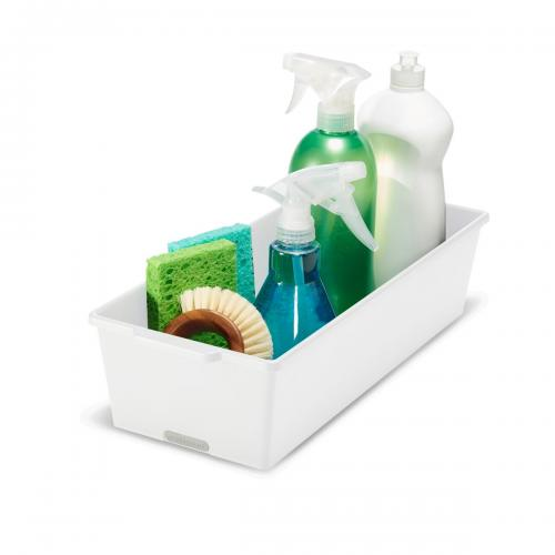 Stor förvaringslåda för att hålla ordning på diskmedelsflaskor och andra flaskor. Perfekt i köksskåpet