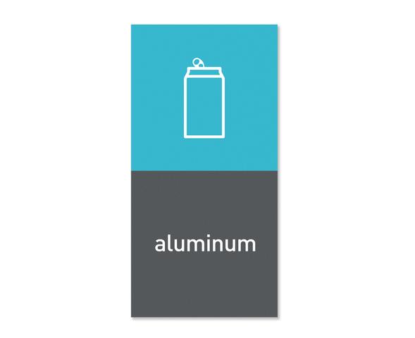 Magnetisk etikett ''Aluminium''