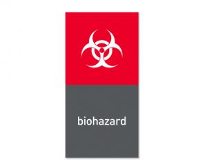 Magnetisk etikett ''Biohazard''