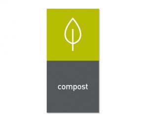 Magnetisk etikett ''Compost''