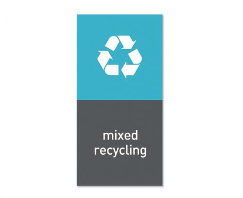 Magnetisk etikett ''Mixed recycling''