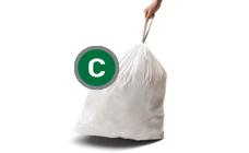 Simplehuman soppåsar av plast med knytband