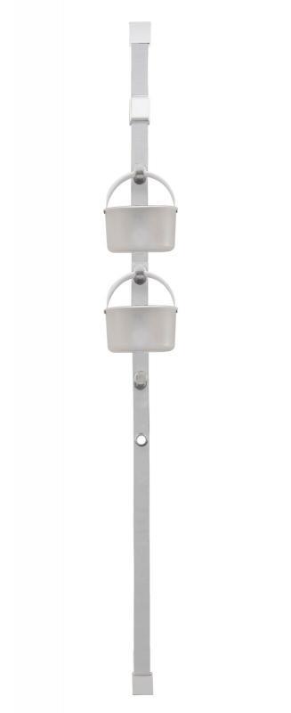 Hanging door caddy. Få ordning på småprylarna i barnrummet, toaletten eller badrummet. Monteras på dörrens övre kant. Avtagbara hinkar med handtag