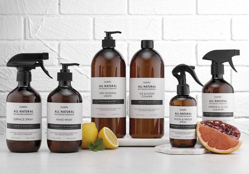 All Natural tvål och rengöringsmedel från Ladelle är helt fria från konstgjorda kemikalier