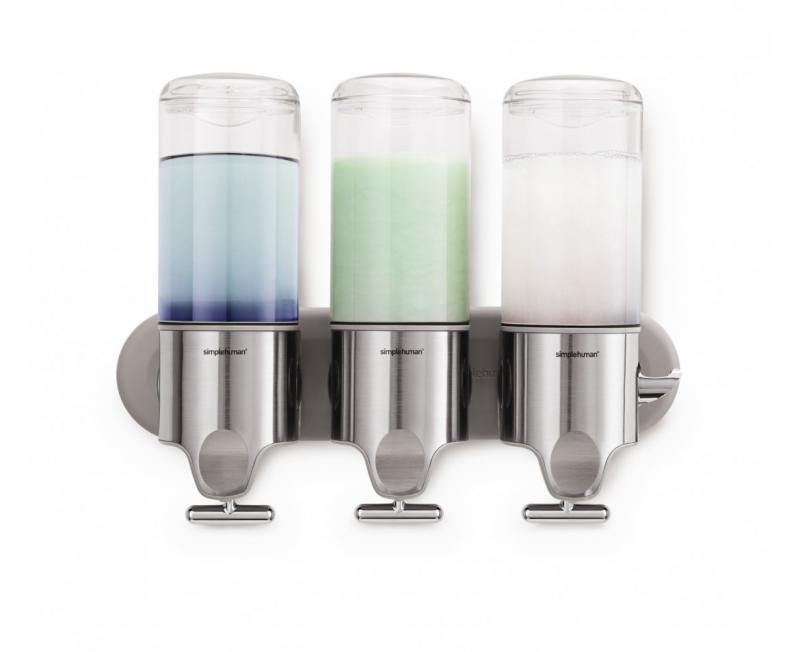 Simplehuman BT1029 väggmonterad schampo, tvål och balsampump