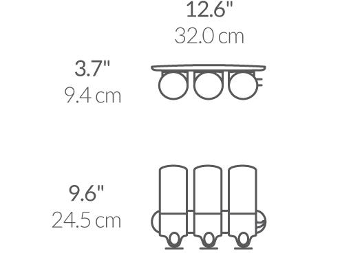 Simplehuman BT1029 trippelpump väggmonterad