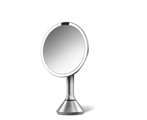 Simplehuman BT1080 sminkspegel med LED belysning, 20 cm, 5 x förstoring