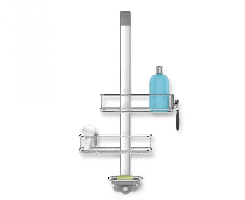 Simplehuman BT1101 duschhylla som hängs över duschdörren. Dubbla flyttbara trådkorgar
