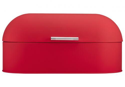 Röd soft matt brödlåda från Ladelle som rymmer det du behöver