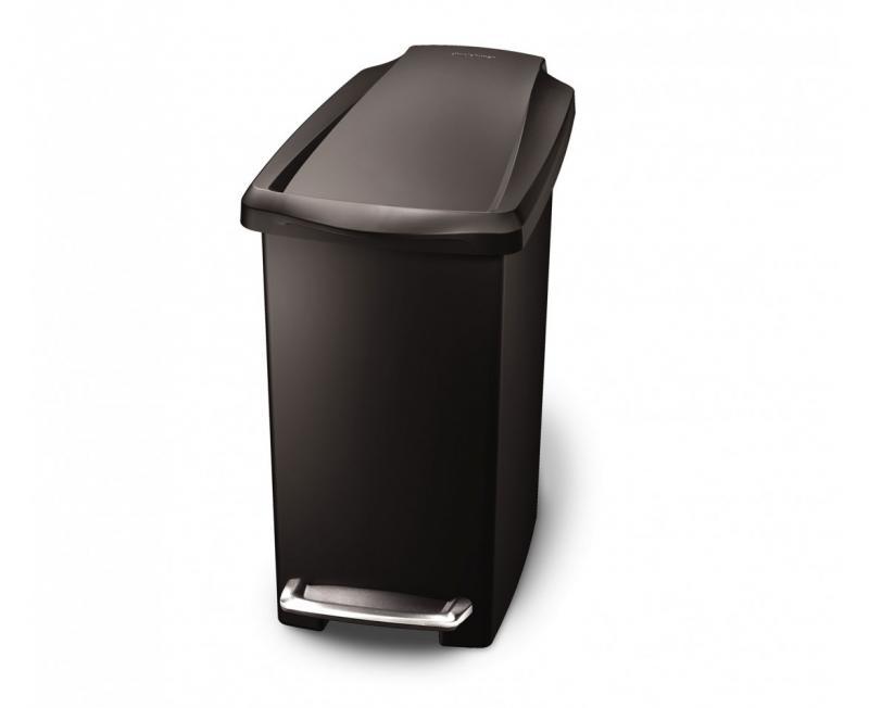 Rektangulär 10 liter, svart plast