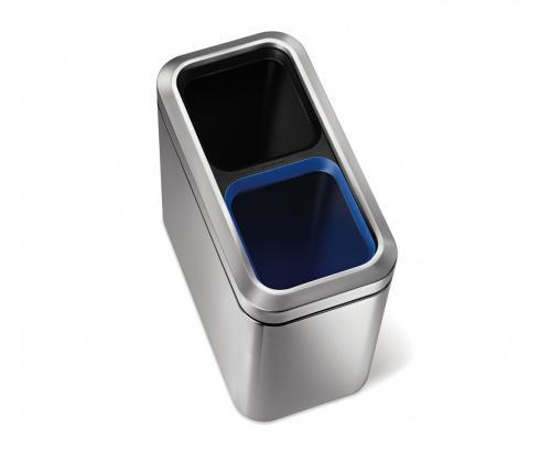 Simplehuman open slim recycler är den optimala papperskorgen för kontoret