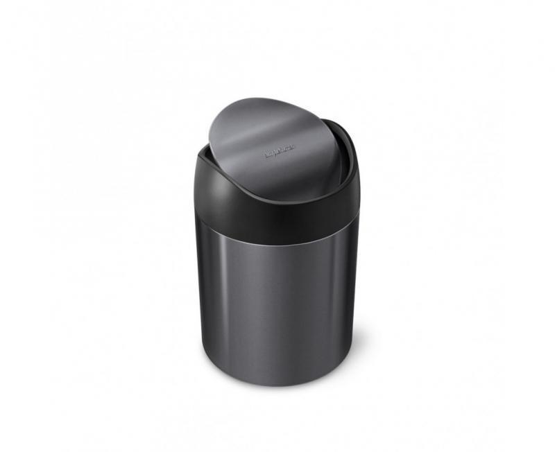 Bordstunna med vipplock svart, 1,5 l