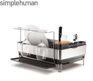 Simplehuman diskställ har en massa smarta funktioner och inbyggd avrinning