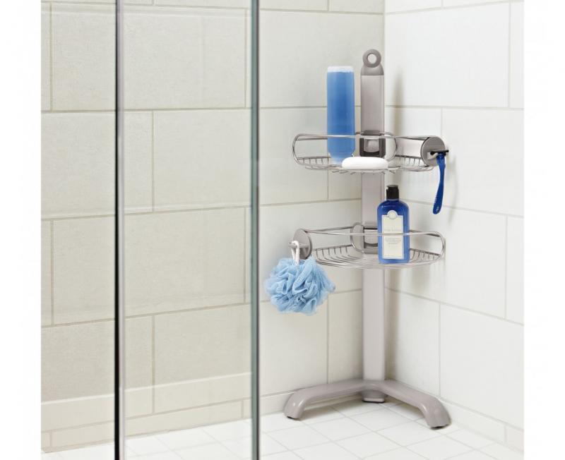 Simplehuman BT1064 duschhylla som kan placeras på badkarskanten eller i hörnet av duschen