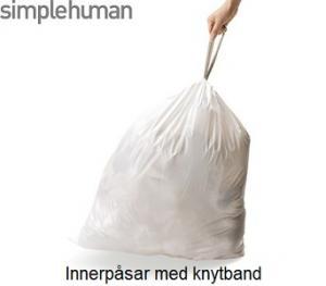 Soppåsar med knytband till Simplehuman soptunna