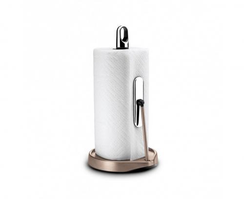 Simplehuman KT1178. Hållare för hushållsrullar. Inbyggt stopp. 23-28 cm. Rosenguld