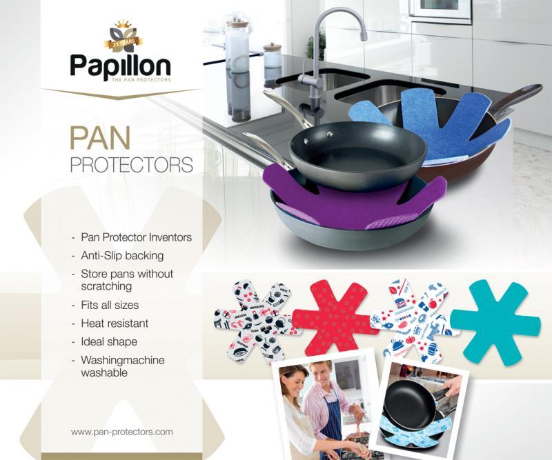 Papillon stekpanneskydd skyddar dina stekpannor från skrapmärken och repor.