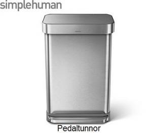 Simplehuman pedaltunnor. Snygg design, smarta funktioner och högsta kvalitet