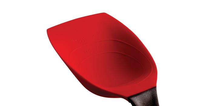 Dreamfarm supoon matlagningssked har ett blad av silikon som gör att du kan skrapa rent. Värmetålig till 260 grader, livsmdelsgodkänd silikon.