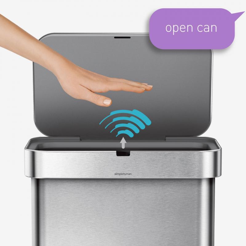 Automatiska soptunnor med sensorfunktion från Simplehuman gör det enkelt att bli av med soporna
