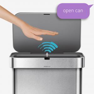 Sensorstyrda soptunnor öppnas auatomasikt när du rör handen ovanför