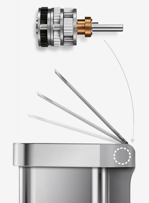 Sensortunna från Simplehuman har högsta kvalitet på alla komponenter.