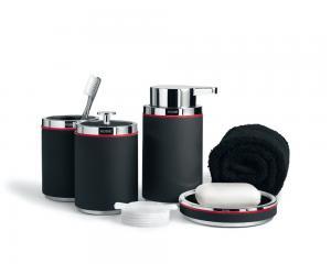 Rode Bath badrumstillbehör i svart gjutmarmor. Elegant dansk design