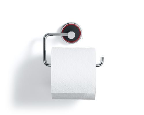 Rodebath pappershållare i polerat stål och svart gjutmarmor